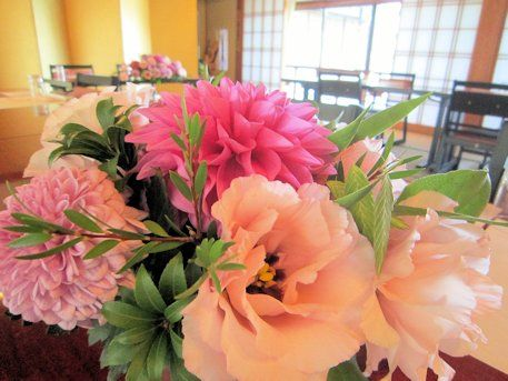 大広間の会場装花