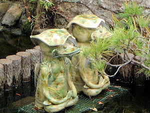 十輪院の庭園 河童