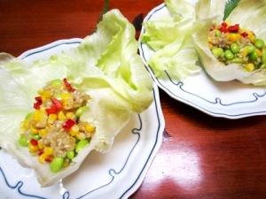 緑米サラダ