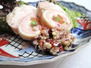 奈良漬仕立の香味鶏