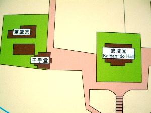 東大寺戒壇堂の周辺地図
