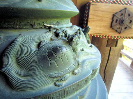 長谷寺の蓑亀