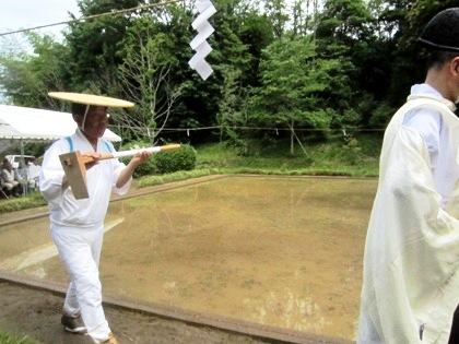 御田植祭の鍬