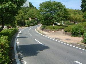 高松塚古墳へアクセスする道路