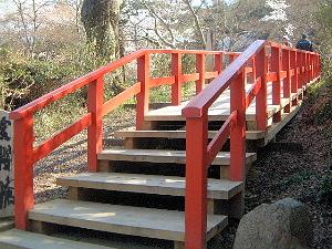 愛桜橋 談山神社の薄墨桜