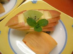アップルボート 柿 冬の料理