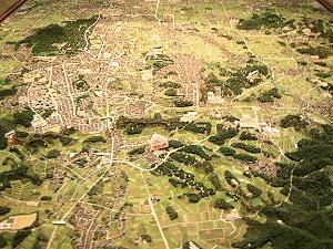 飛鳥の地理模型 立体模型