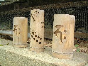 竹灯り 梵字
