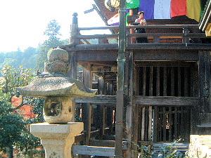 本堂の舞台 奈良県の長谷寺