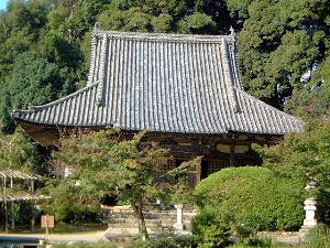 長岳寺の本堂