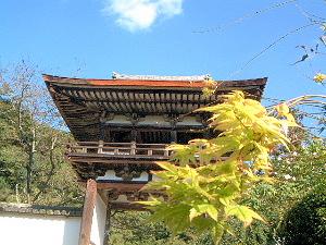 長岳寺の鐘楼門