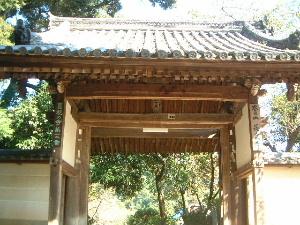 長岳寺の大門