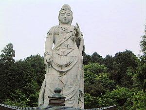 大観音石像 壷阪寺