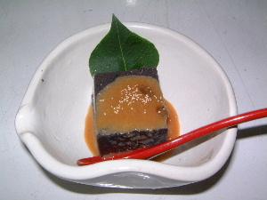 黒胡麻豆腐 季節会席料理