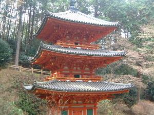 岩船寺三重塔