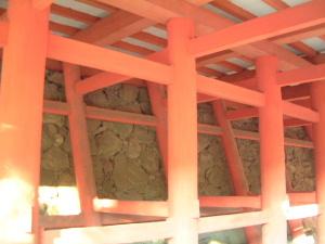 拝殿の柱 談山神社