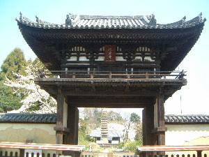 般若寺楼門 十三重石塔