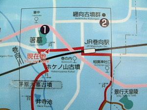箸墓古墳の周辺地図
