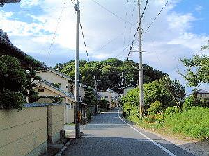 箸墓古墳へ続く道