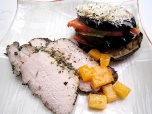 香草風味の豚肉ロースト