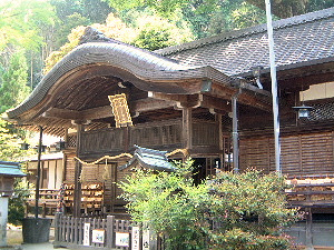 葛城一言主神社の拝殿