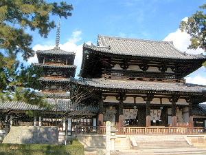 世界遺産の法隆寺