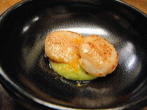 帆立貝の料理