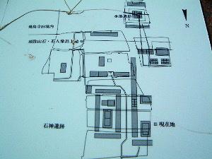 石神遺跡の地図
