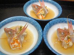イトヨリのけんちん蒸し 和食