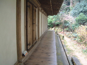 浄瑠璃寺本堂の裏