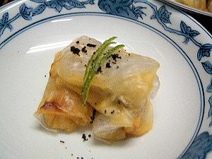 牡蠣の包み焼き