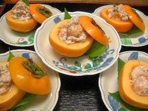 柿釜料理 秋の会席料理
