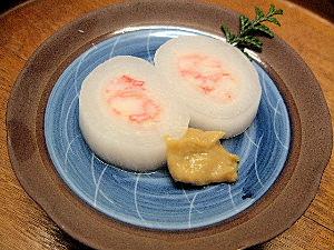 蟹の砧巻 ふきのとう味噌