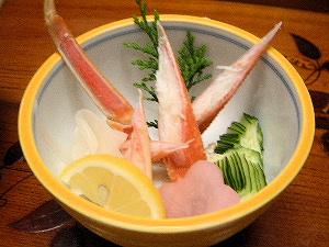蟹の酢の物 おいしい蟹料理