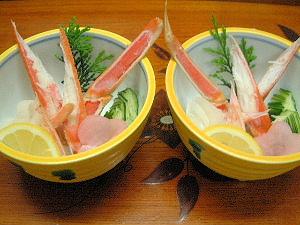 蟹の酢の物 山の辺の道で食事