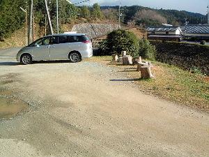 キトラ古墳駐車場