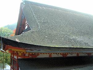 神廟拝所の屋根