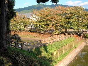黒塚古墳から三輪山を眺望