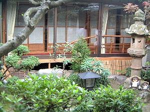 中庭 奈良の旅館大正楼