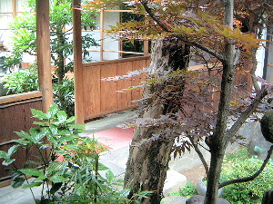 中庭 渡り廊下 奈良の宴会