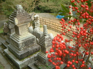 南天 供養塔・墓石群
