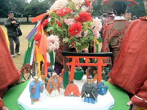 田楽座の花笠
