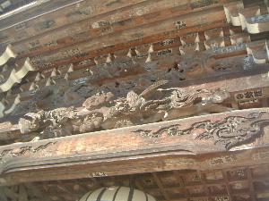 仁王門の彫刻 奈良県の長谷寺
