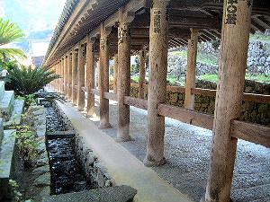 登廊 奈良県の長谷寺風景