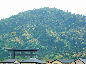 大鳥居と三輪山