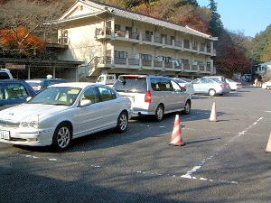長谷寺の駐車場 奈良県桜井市の長谷寺