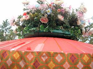 華やかな花 春日若宮おん祭