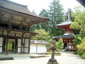 楼門 多宝塔 円成寺