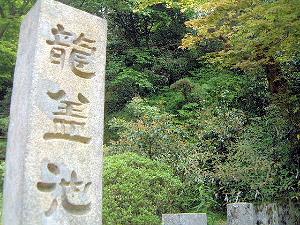 龍蓋池の石碑 岡寺