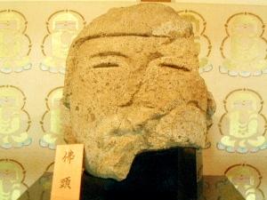 石光寺の仏頭